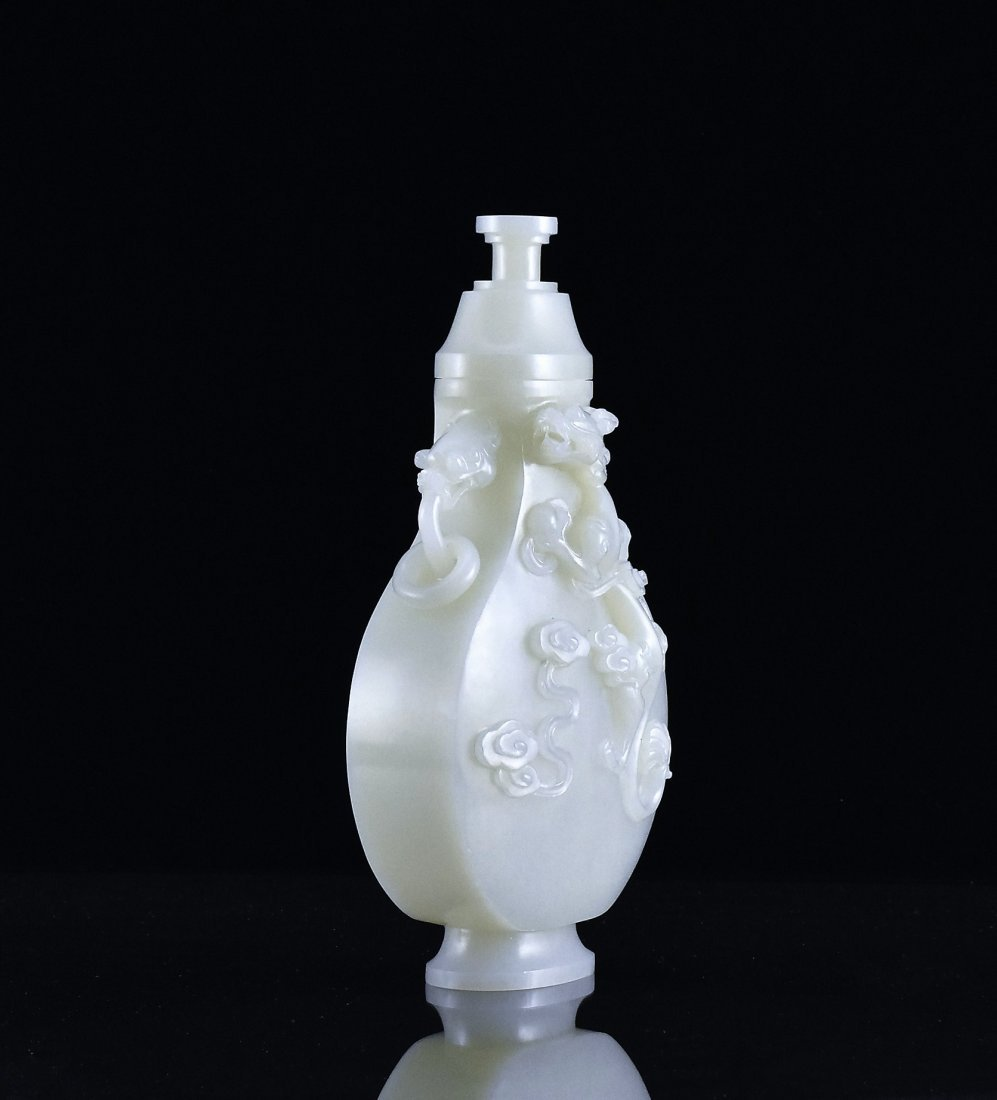 CHILONG DRAGON MOTIF JADE URN - 4