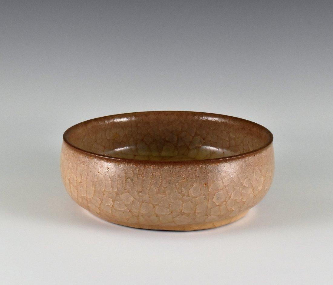 CHINESE GRAYISH-BROWN GUAN WARE BOWL