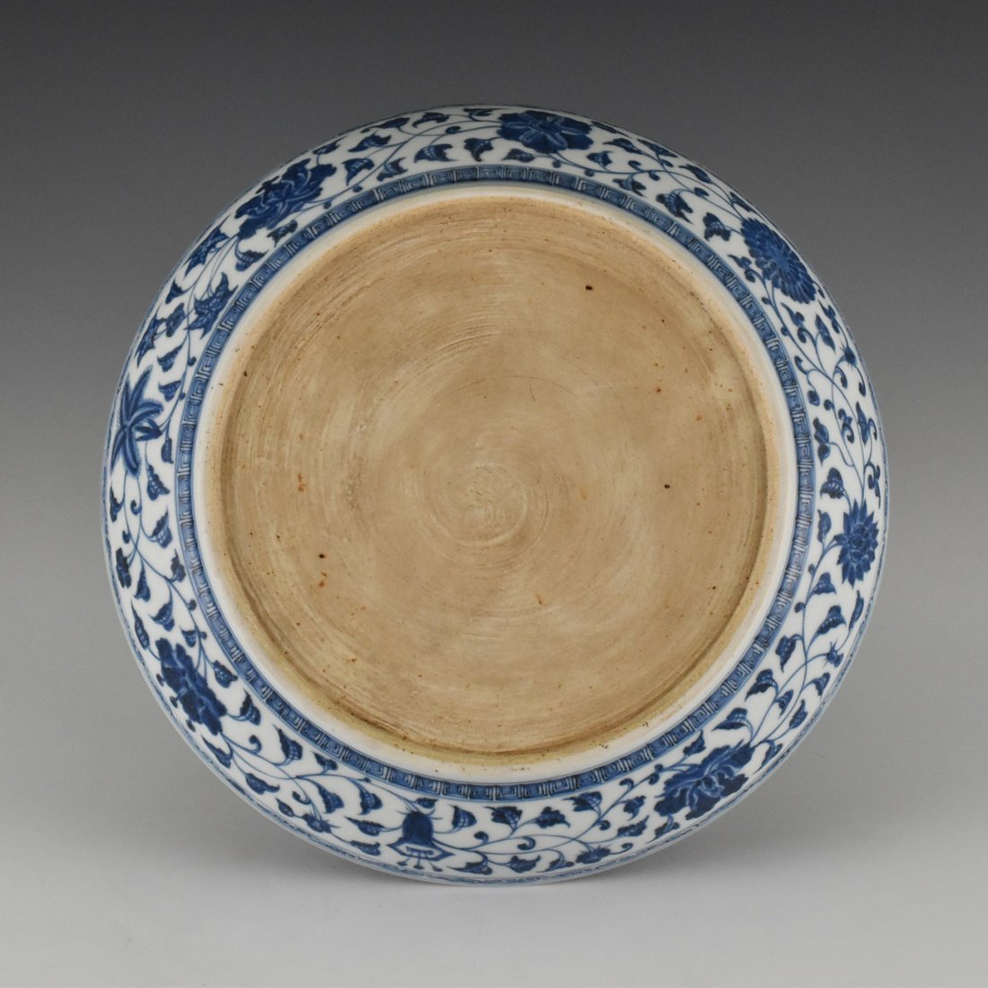 BLUE AND WHITE GOURD MOTIF PORCELAIN PLATE - 4