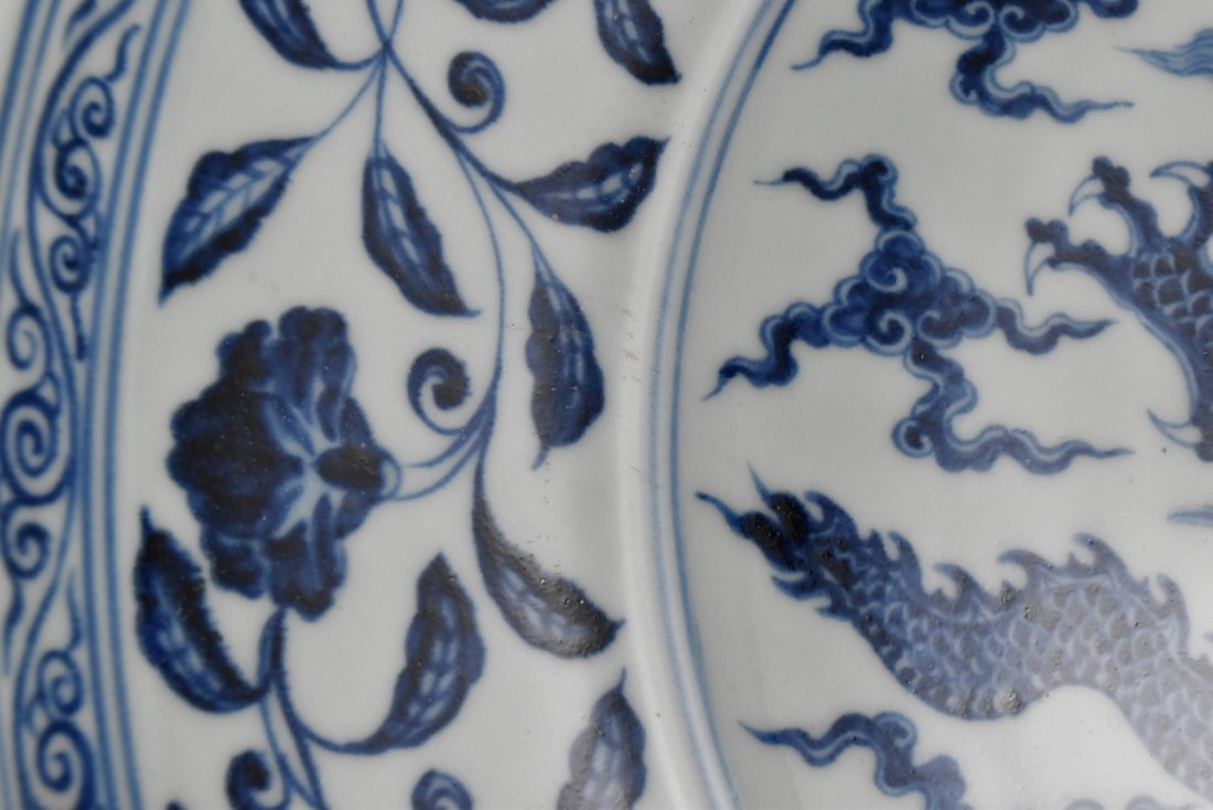 MING XUANDE PORCELAIN CHARGER IN  DRAGON MOTIF - 10