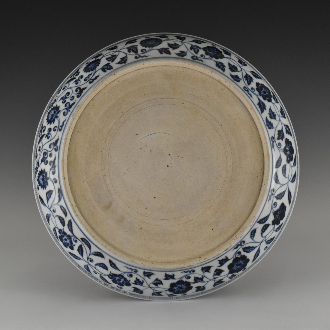 MING XUANDE PORCELAIN CHARGER IN  DRAGON MOTIF - 4