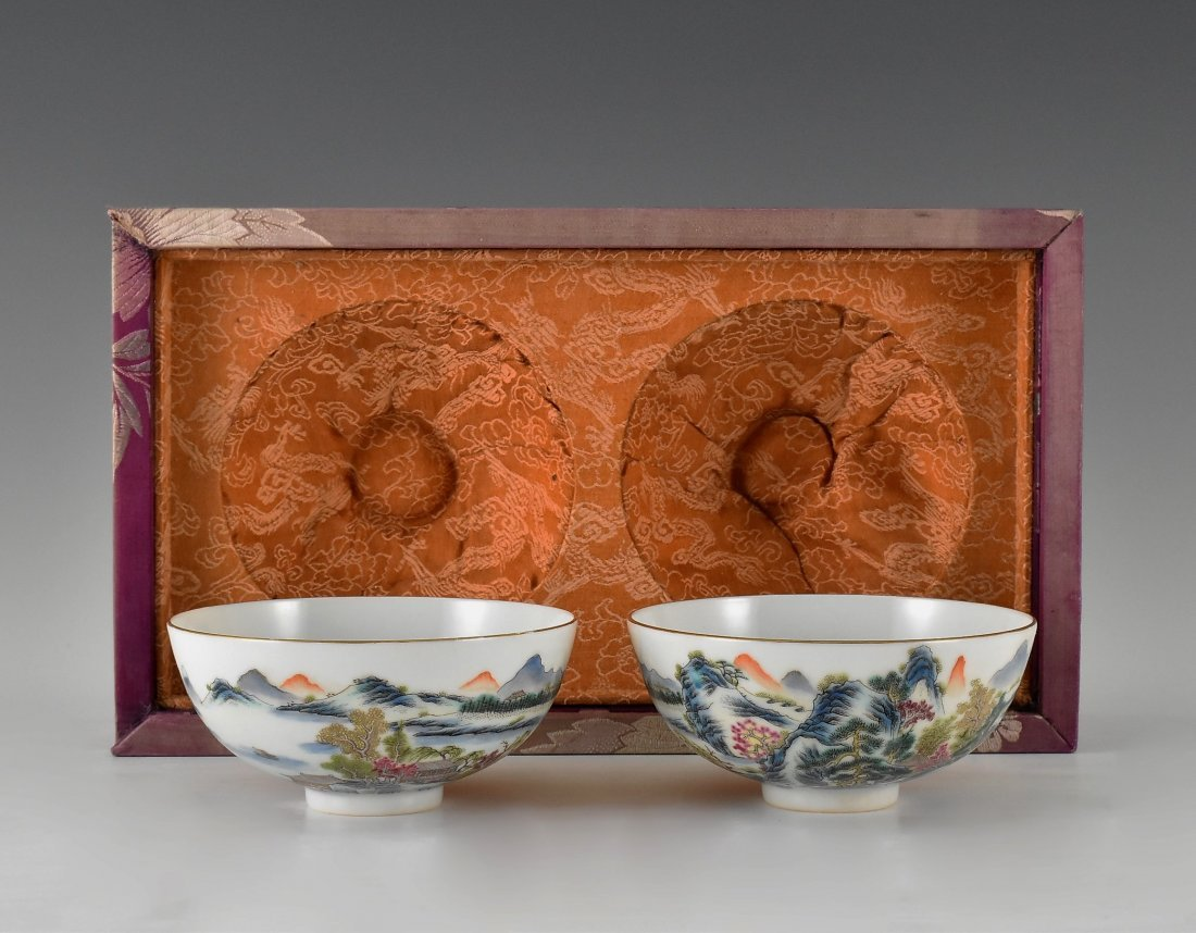 PAIR OF PORCELAIN BOWL IN ORIGINAL BOX