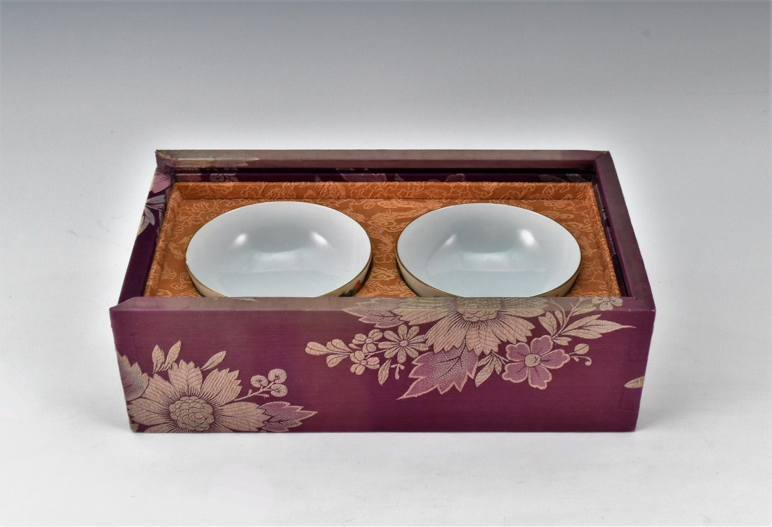 PAIR OF PORCELAIN BOWL IN ORIGINAL BOX - 2