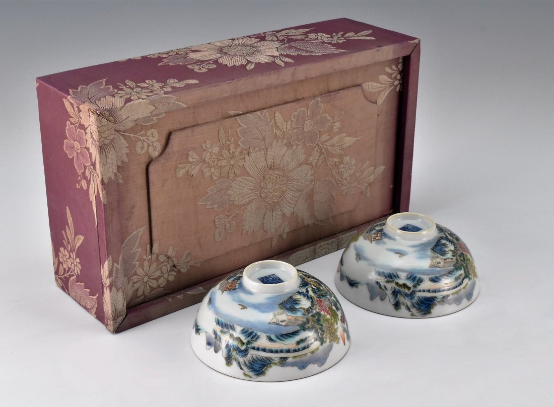 PAIR OF PORCELAIN BOWL IN ORIGINAL BOX - 3