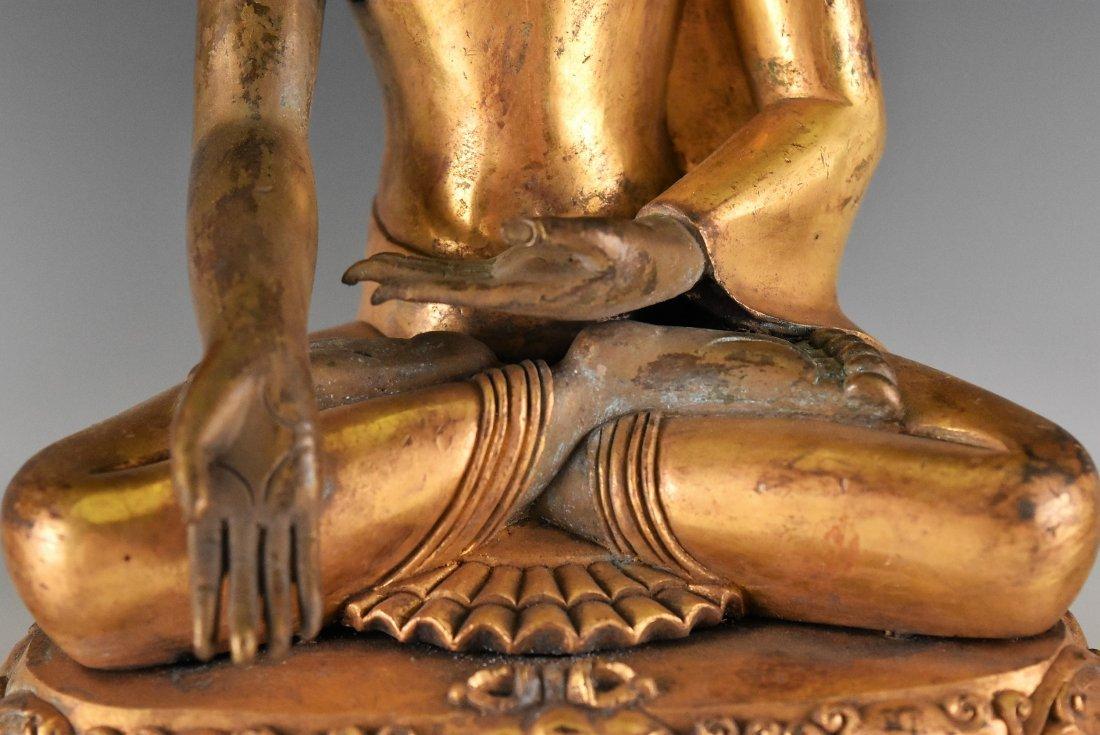 IMPORTANT, SET OF 3 GILT BRONZE SHAKYAMUNI BUDDHA'S - 9