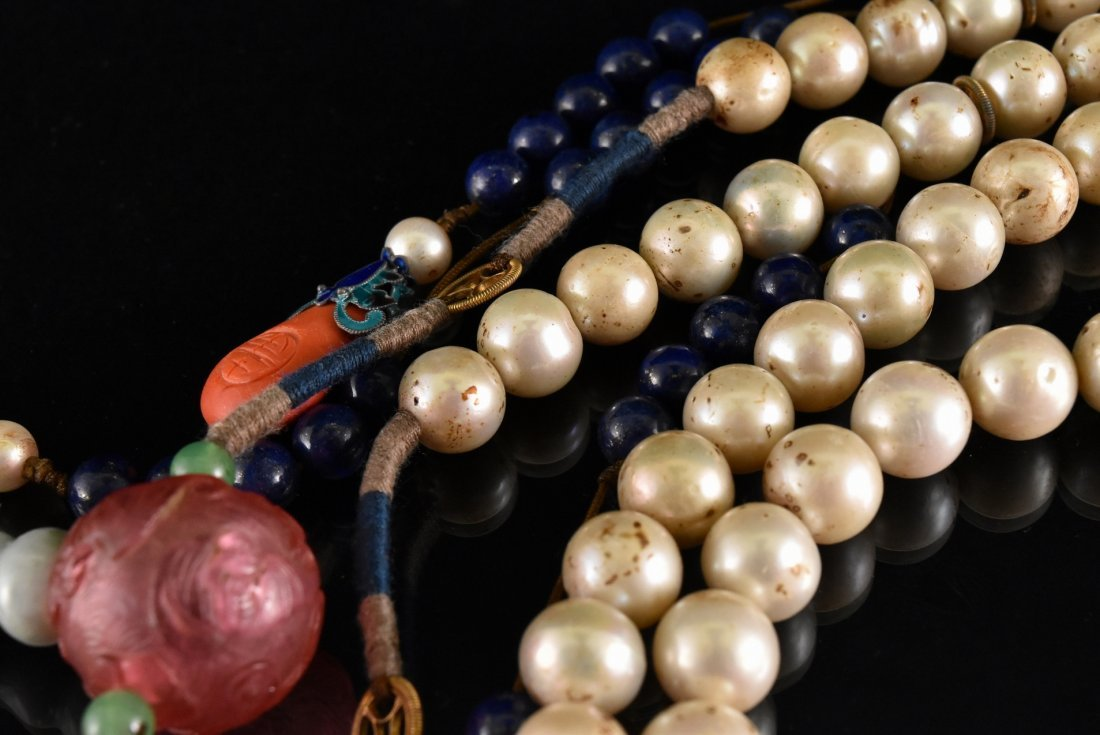 QING IMPERIAL COURT PEARL CHAOZHU COURT NECKLACE - 10