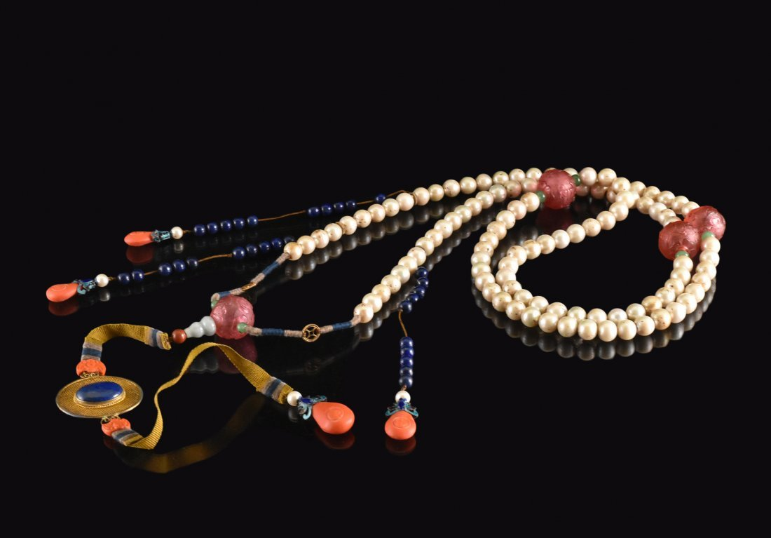 QING IMPERIAL COURT PEARL CHAOZHU COURT NECKLACE