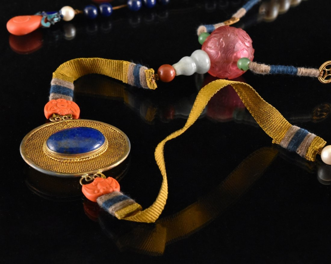 QING IMPERIAL COURT PEARL CHAOZHU COURT NECKLACE - 3