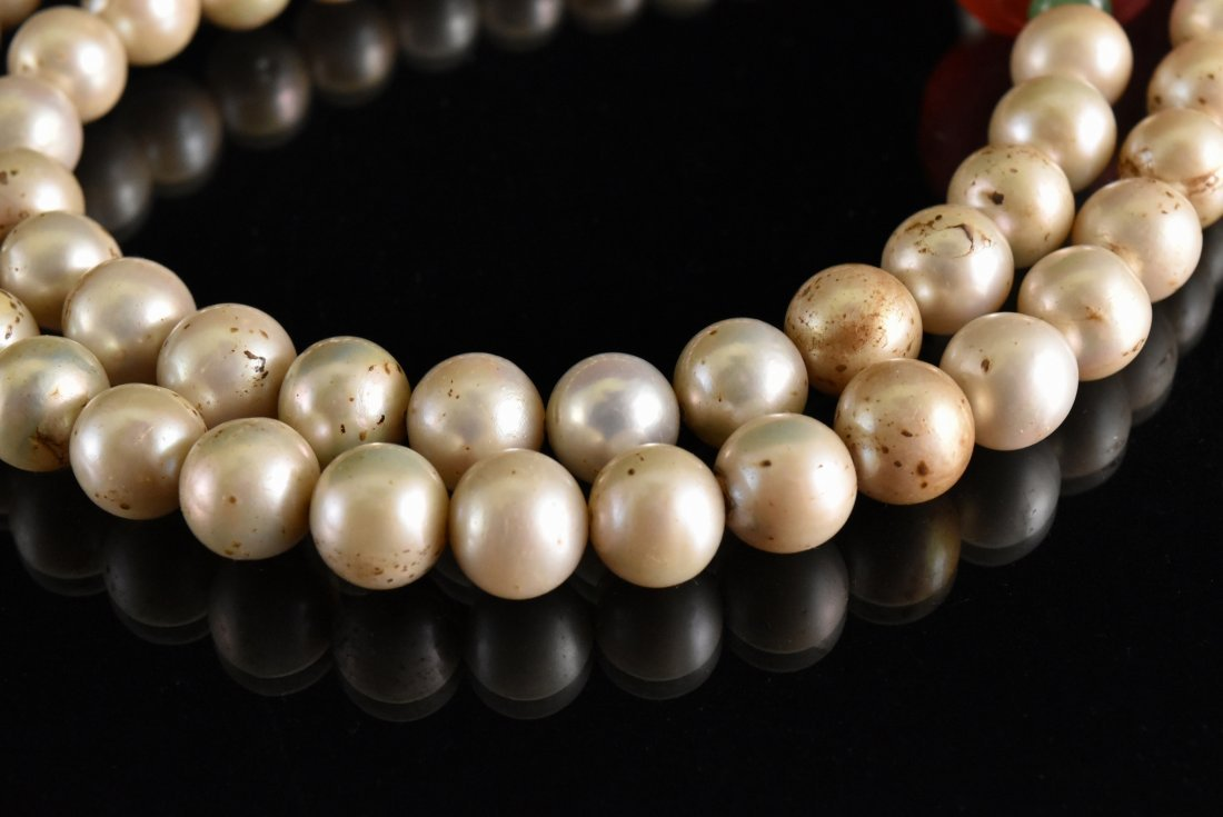QING IMPERIAL COURT PEARL CHAOZHU COURT NECKLACE - 5