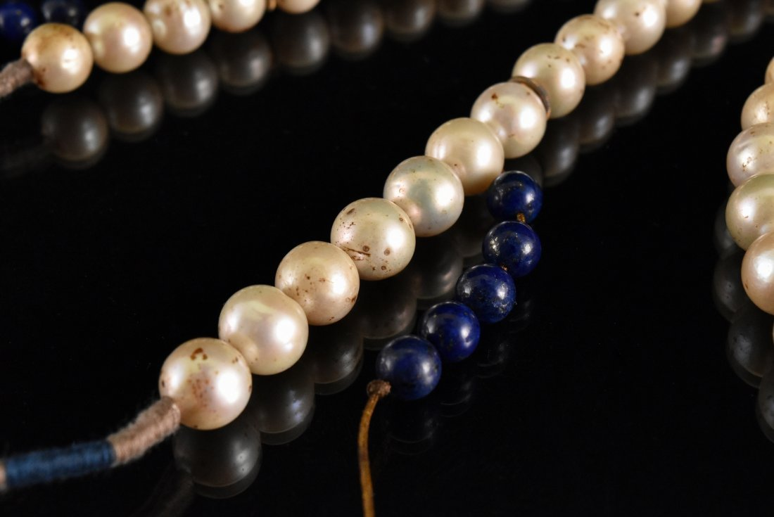 QING IMPERIAL COURT PEARL CHAOZHU COURT NECKLACE - 7