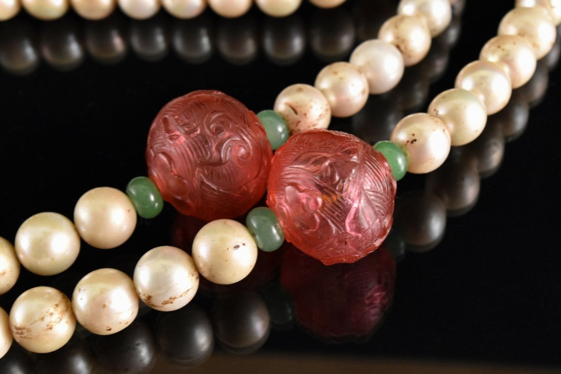 QING IMPERIAL COURT PEARL CHAOZHU COURT NECKLACE - 9
