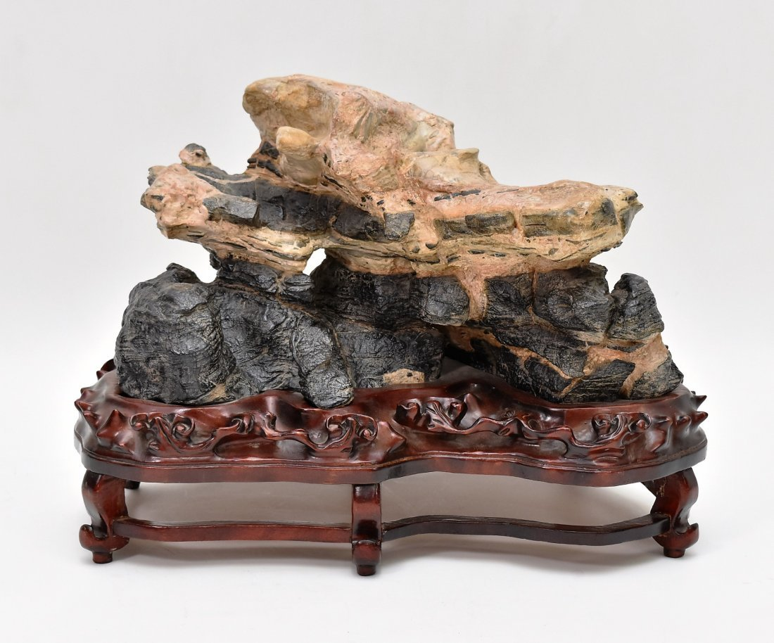LARGE CARVED CHINESE LINGBI STONE OF ROCKWORKS