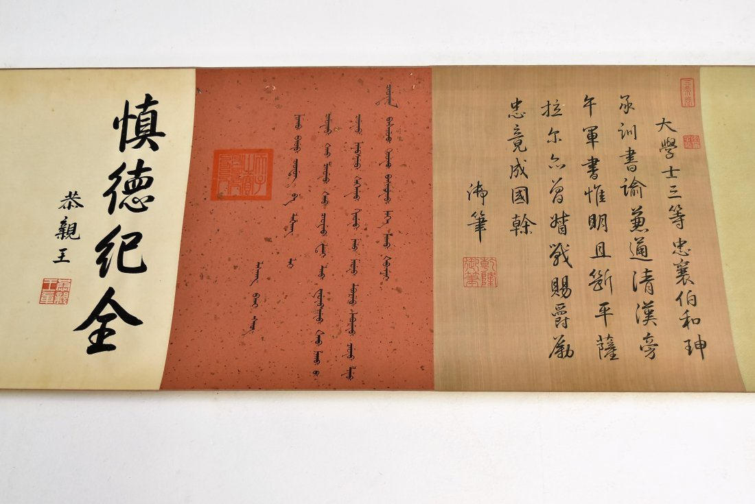 JIN TINGBIAO, QING LONG SCROLL PAINTING OF HEROS - 8