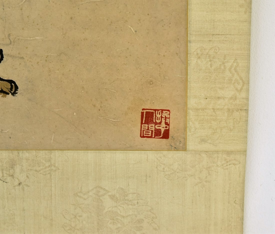 FU BAOSHI (1904-1965) LARGE CHINESE SCROLL  PAINTING - 5