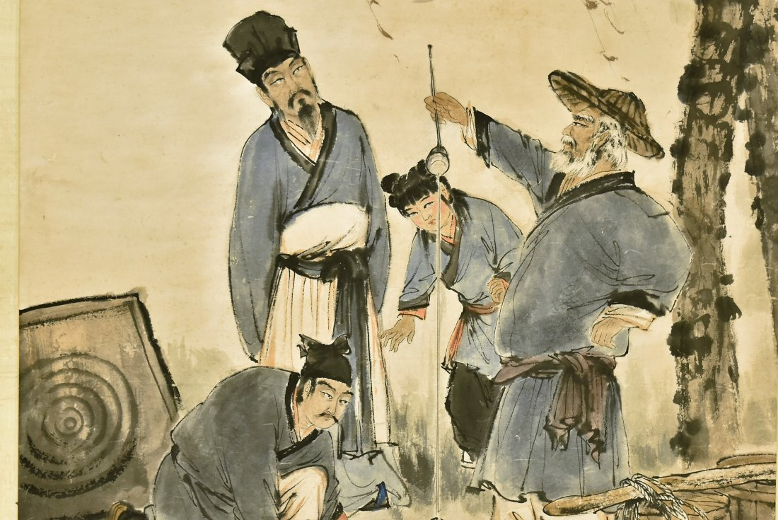 FU BAOSHI (1904-1965) LARGE CHINESE PAINTING - 3