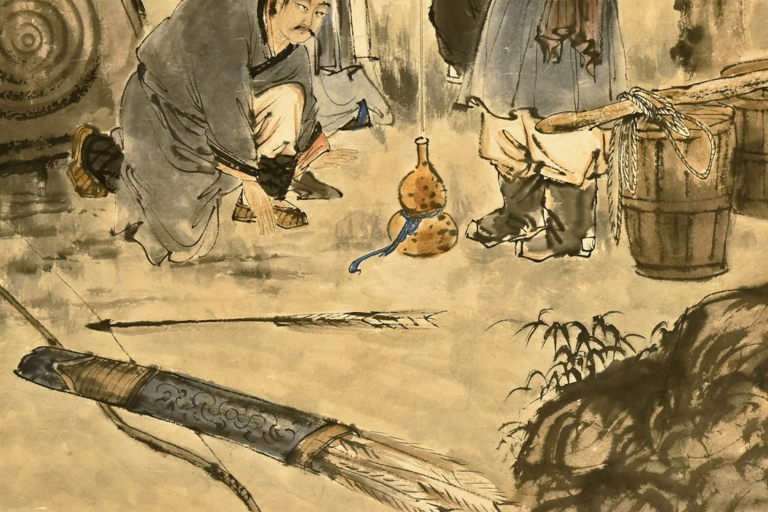 FU BAOSHI (1904-1965) LARGE CHINESE PAINTING - 4