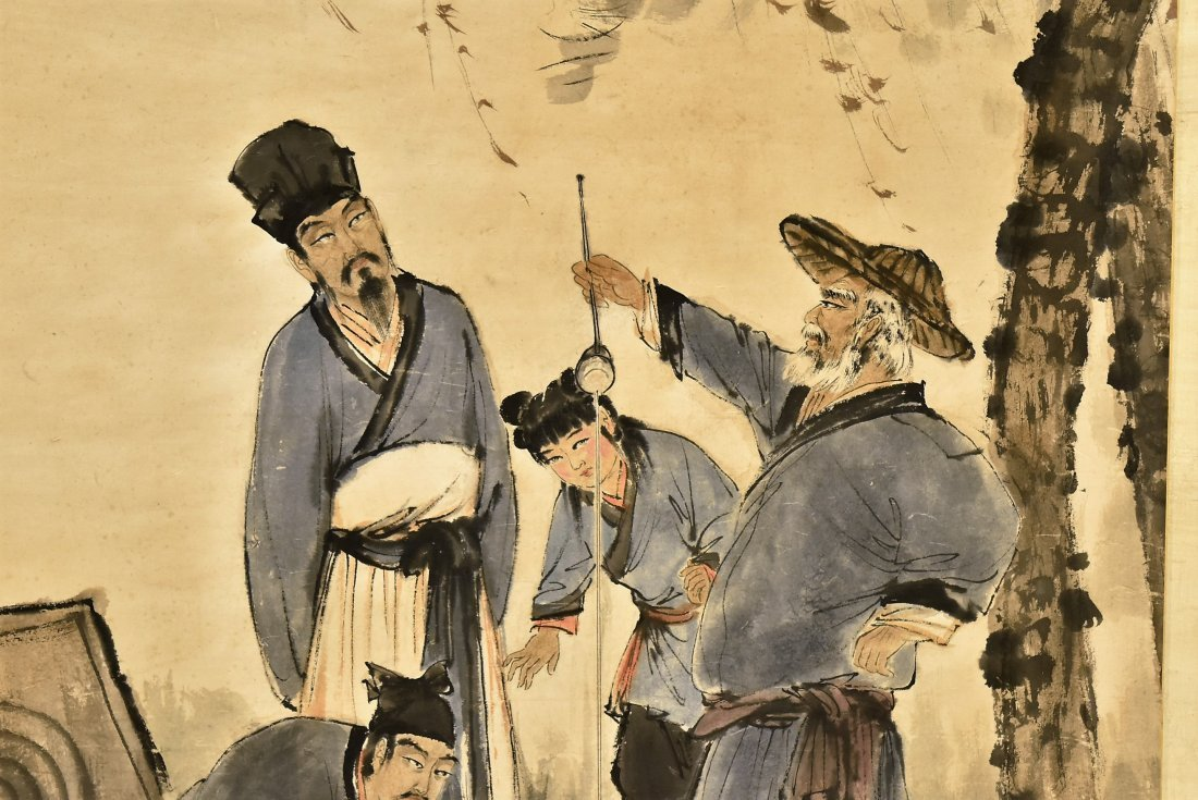 FU BAOSHI (1904-1965) LARGE CHINESE PAINTING - 7