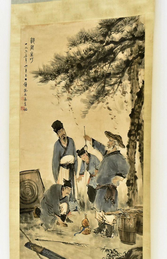FU BAOSHI (1904-1965) LARGE CHINESE PAINTING - 9