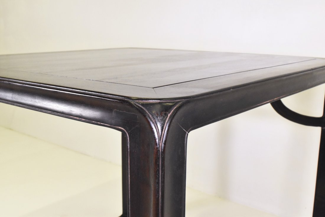 ANTIQUE ZITAN CHINESE SQUARE TABLE - 10