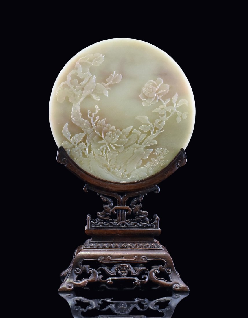 CIRCULAR JADE TABLE SCREEN