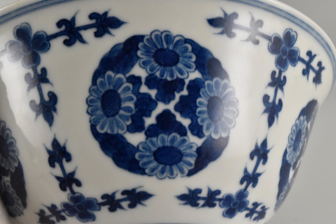 PAIR OF CHRYSANTHEMUMN MEDALLION BOWLS - 5
