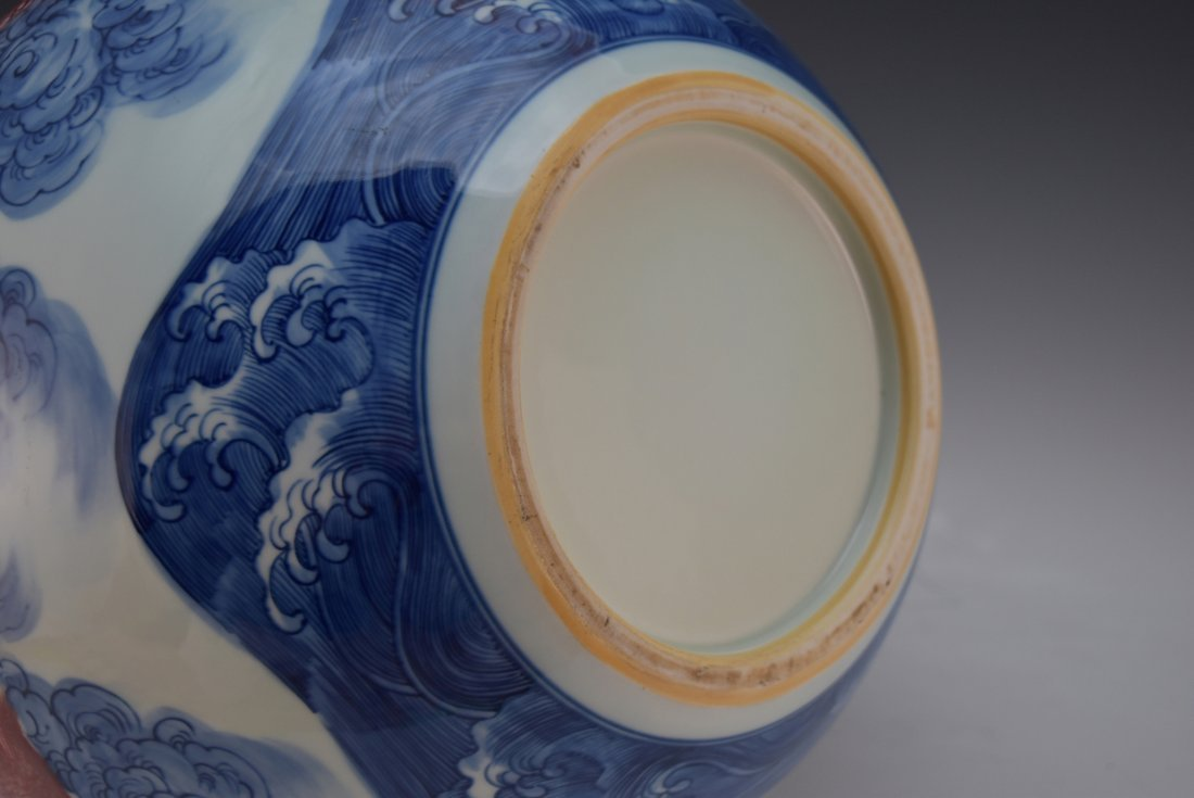 LARGE BLUE AND RED DRAGON CELESTIAL VASE, YONGZHENG - 8