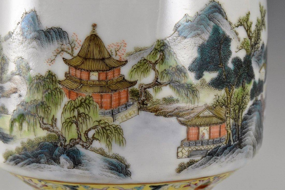CHINESE FAMILLE ROSE PORCELAIN BALUSTER VASE - 10