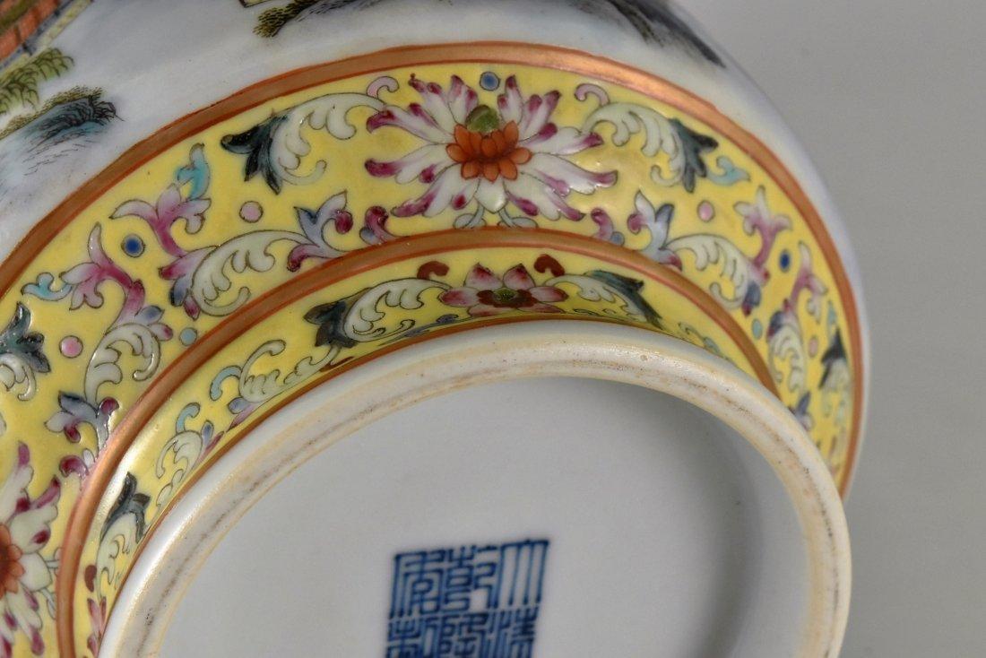 CHINESE FAMILLE ROSE PORCELAIN BALUSTER VASE - 9