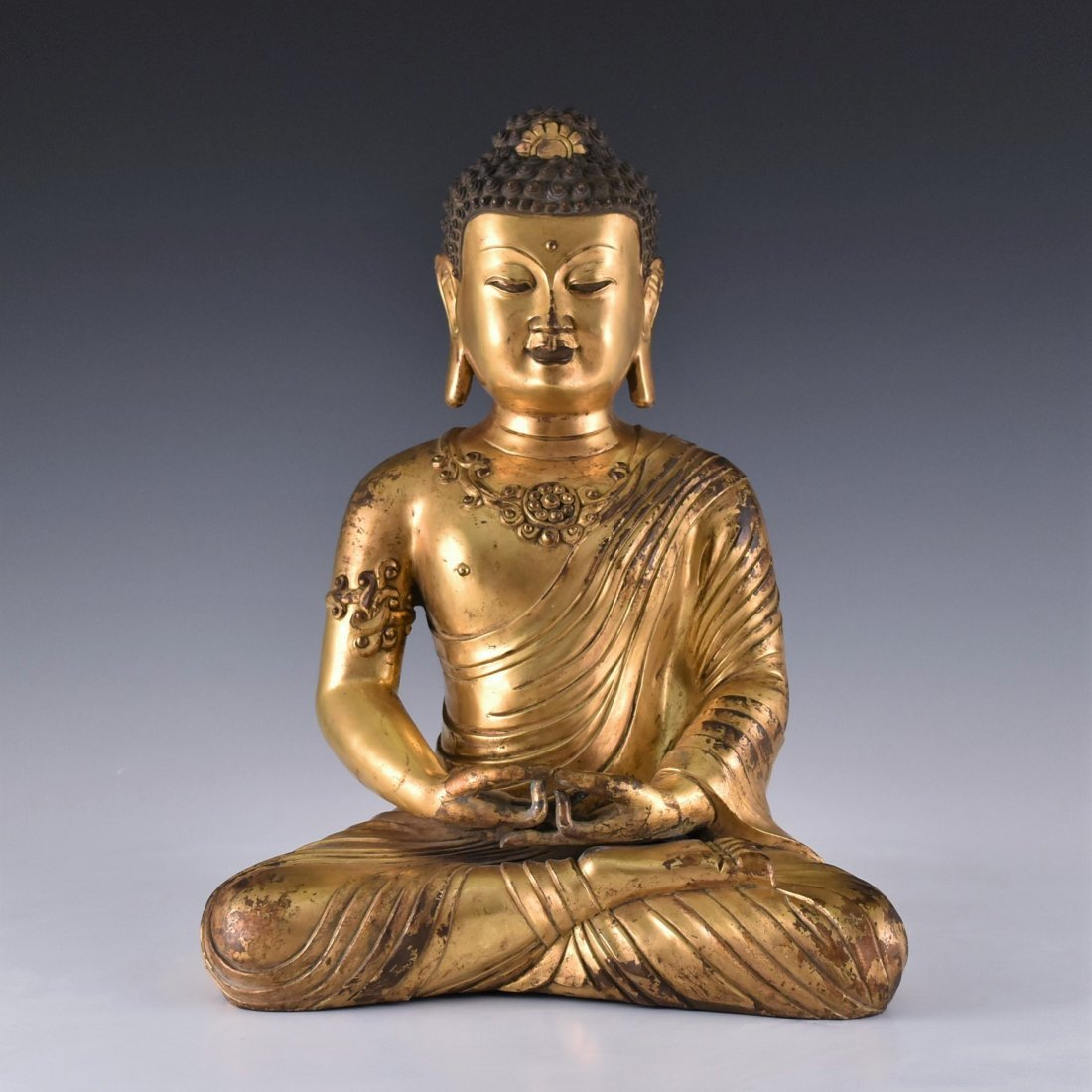 JIAJING MARK, MING SEATED SAKYAMUNI BUDDHA