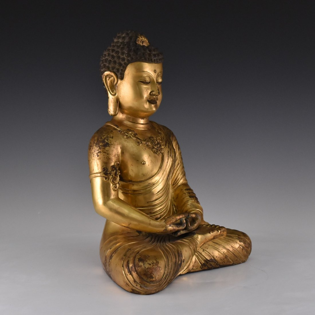 JIAJING MARK, MING SEATED SAKYAMUNI BUDDHA - 3