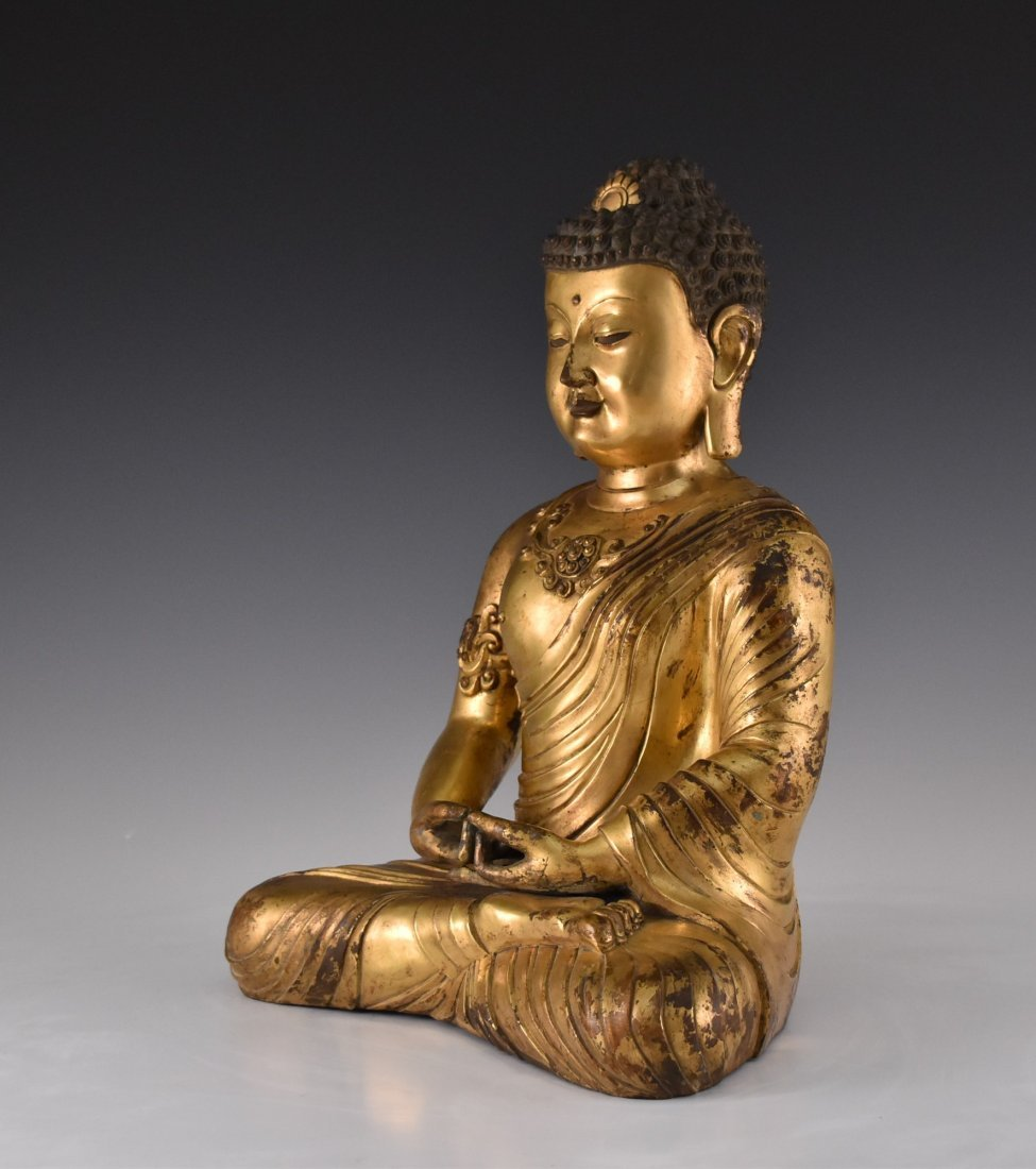 JIAJING MARK, MING SEATED SAKYAMUNI BUDDHA - 6
