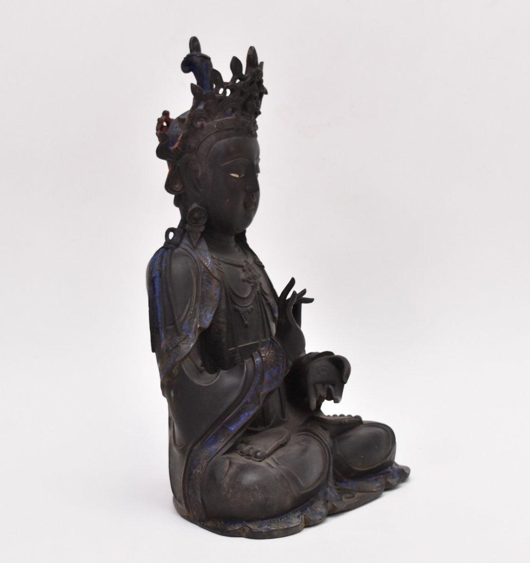 MASSIVE BRONZE BUDDHA OF BODDHISHATVA - 3
