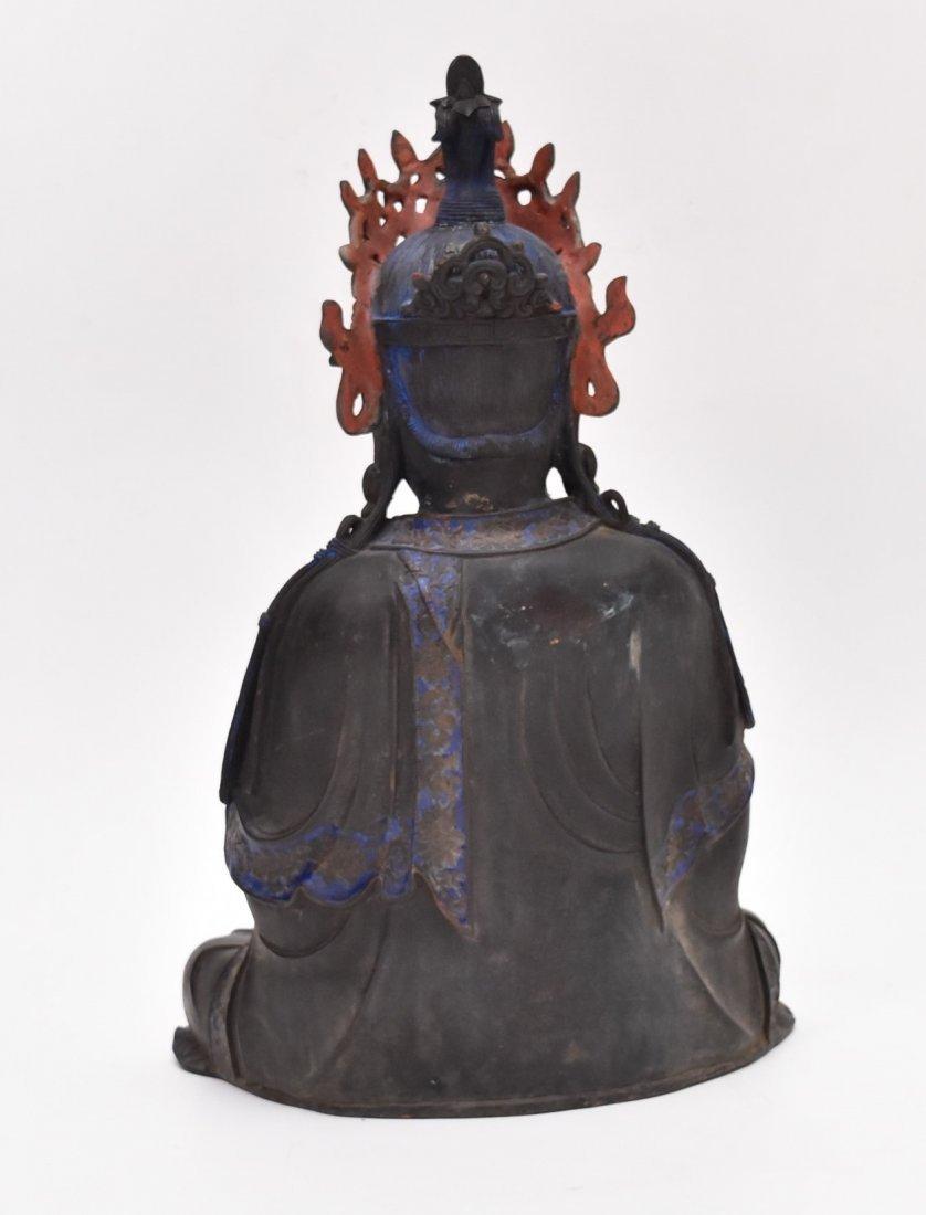 MASSIVE BRONZE BUDDHA OF BODDHISHATVA - 5