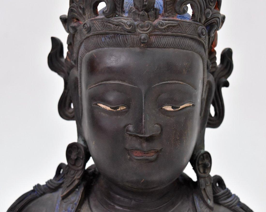 MASSIVE BRONZE BUDDHA OF BODDHISHATVA - 8