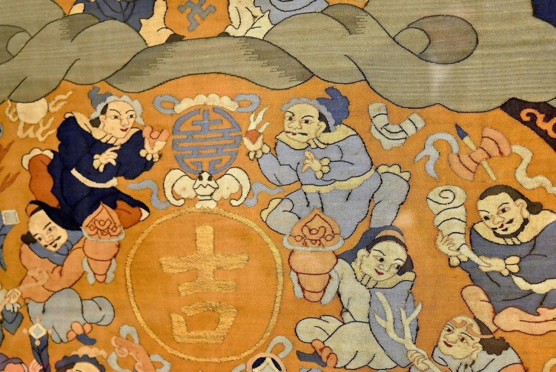CHINESE SILK KESI OF DOUBLE GOURD, FRAMED - 5