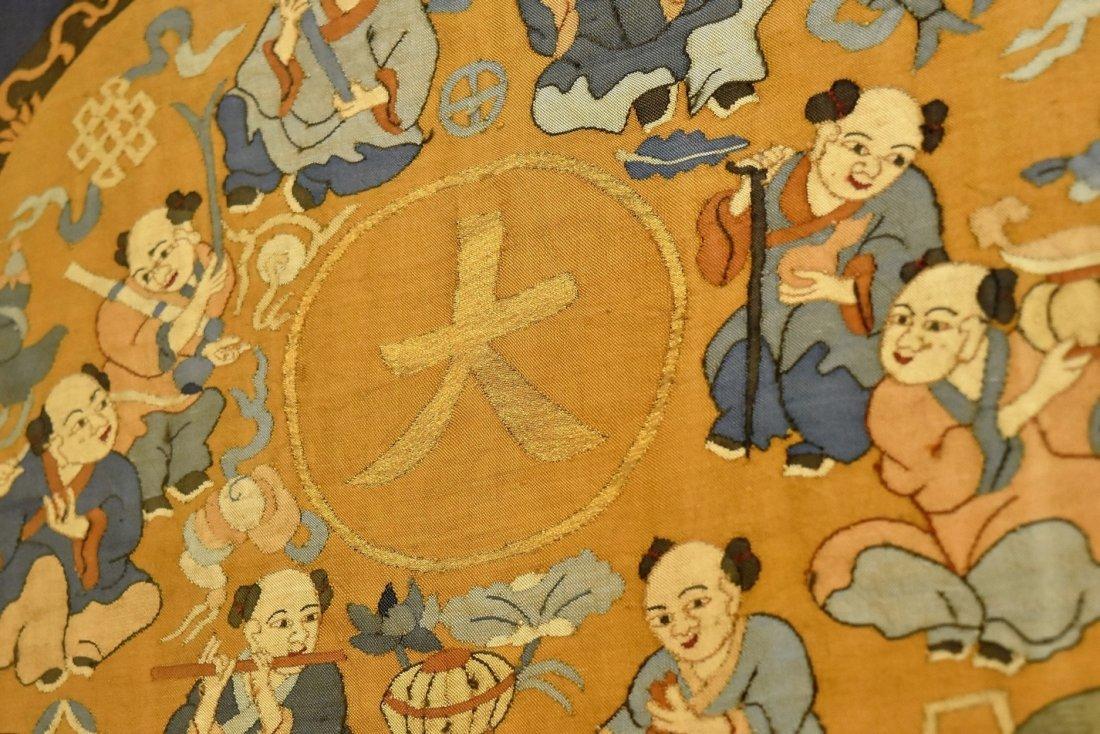 CHINESE SILK KESI OF DOUBLE GOURD, FRAMED - 6