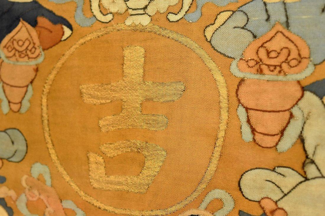 CHINESE SILK KESI OF DOUBLE GOURD, FRAMED - 9
