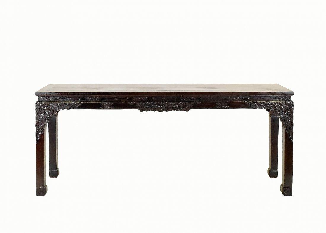 CRAVED ZITAN ALTAR TABLE WITH ROCOCO FLORAL MOTIF