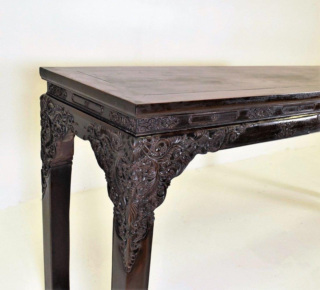 CRAVED ZITAN ALTAR TABLE WITH ROCOCO FLORAL MOTIF - 3