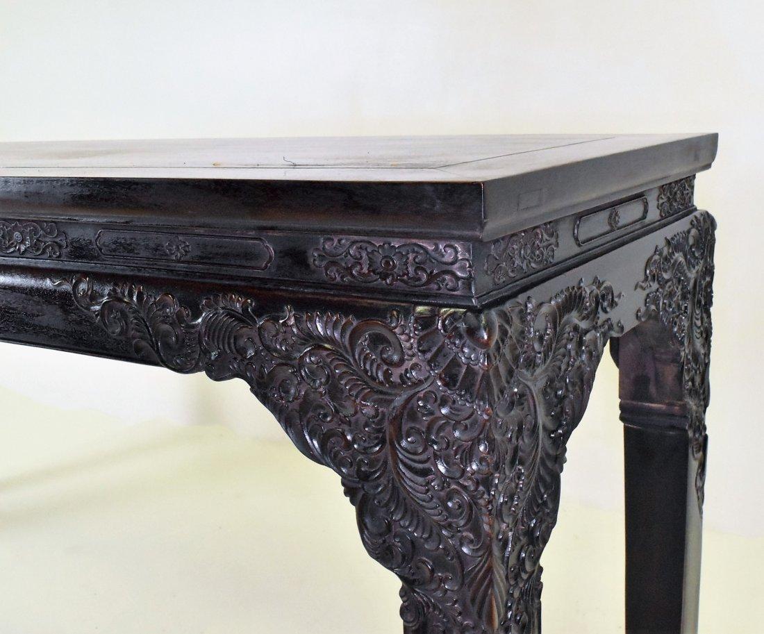 CRAVED ZITAN ALTAR TABLE WITH ROCOCO FLORAL MOTIF - 5
