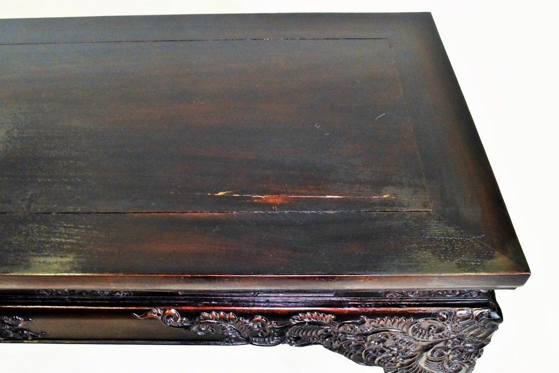 CRAVED ZITAN ALTAR TABLE WITH ROCOCO FLORAL MOTIF - 6