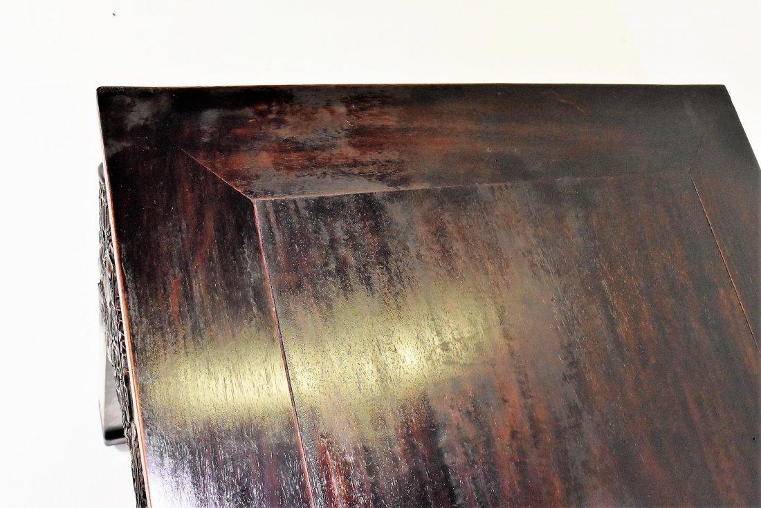 CRAVED ZITAN ALTAR TABLE WITH ROCOCO FLORAL MOTIF - 7