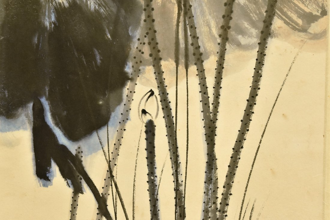 CHINESE SPLASHING-INK SCROLL PAINTING OF LOTUS - 6