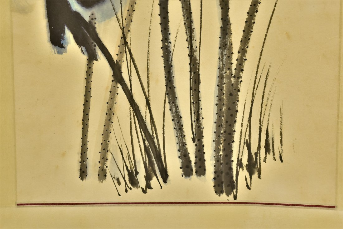CHINESE SPLASHING-INK SCROLL PAINTING OF LOTUS - 7