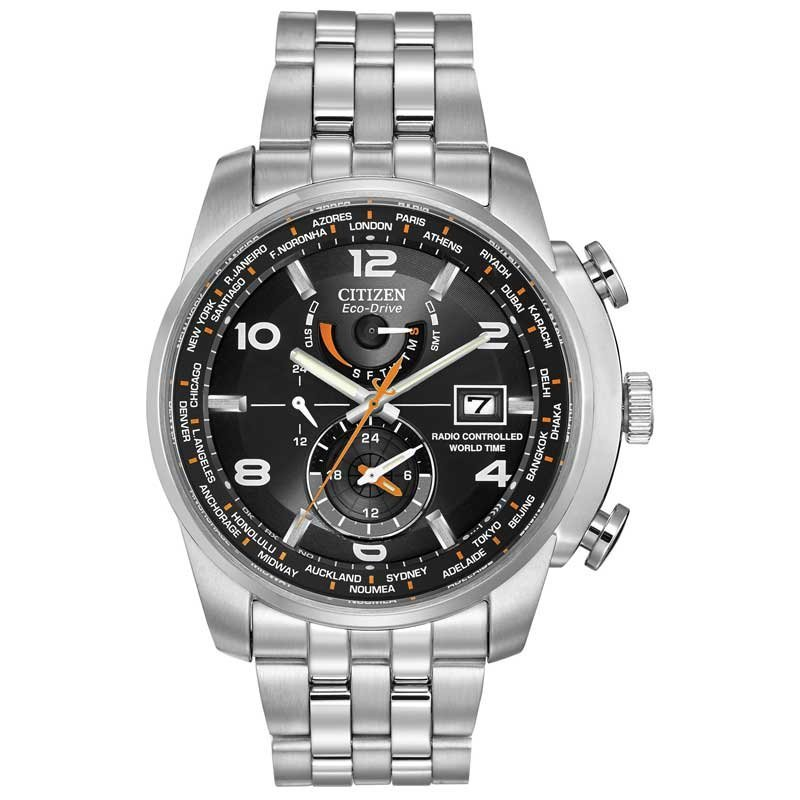 CITIZEN  Eco-Drive World Time Black Dial