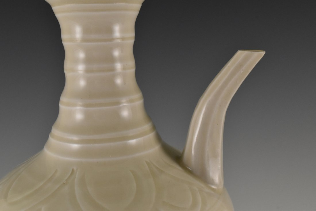 A DING WARE EWER ON STAND - 10