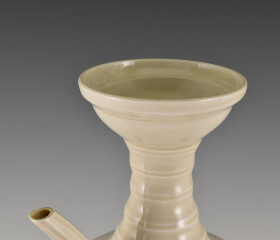 A DING WARE EWER ON STAND - 3