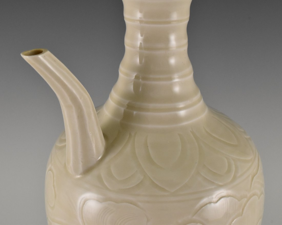 A DING WARE EWER ON STAND - 4