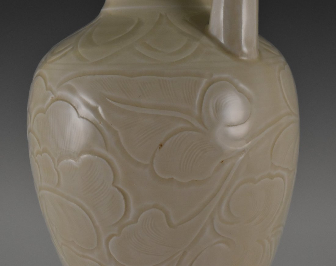 A DING WARE EWER ON STAND - 7