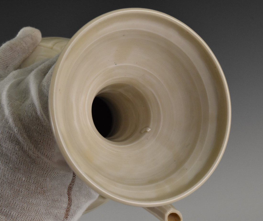 A DING WARE EWER ON STAND - 8